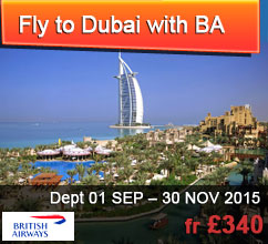 Fly to Dubai with BRITISH AIRWAYS